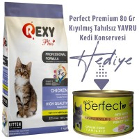 Rexy 1 Kg Yavru Kedi Maması Alana Perfect 80 Gr Konserve Hediyemizdir....
