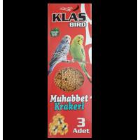 KLAS BIRD MUHABBET KUŞU KRAKERİ-BALLI- (1 KOLİ 10 ADET)
