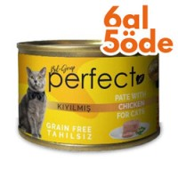 Perfect Chicken Pate Kıyılmış Tavuklu Tahılsız Kedi Konservesi 80 Gr-6 Al 5 Öde